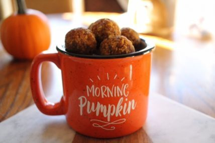 No Bake Pumpkin Oat Energy Bites