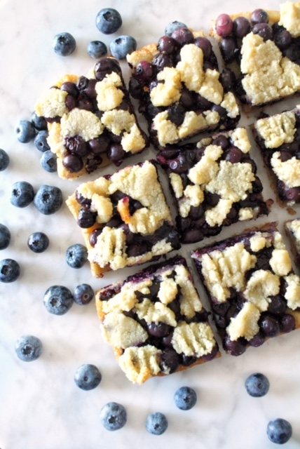 Blueberry Shortbread Bar recipe, photo by Maggie Michalczyk, RDN