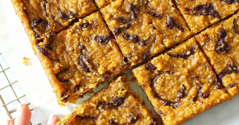 Healthy Pumpkin Tahini Blondies