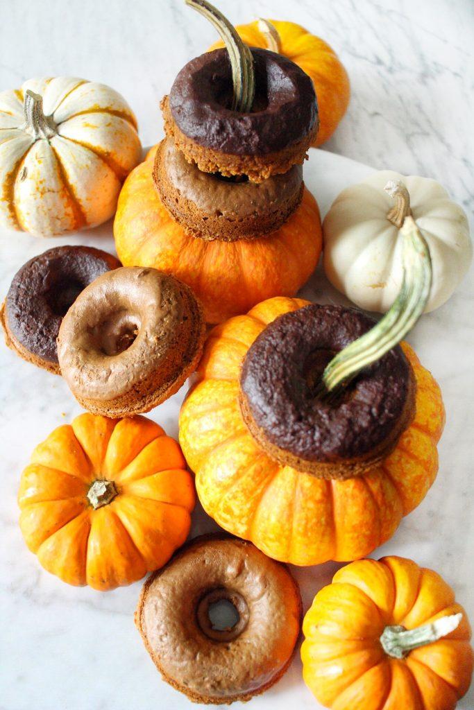 gluten free baked pumpkin donuts