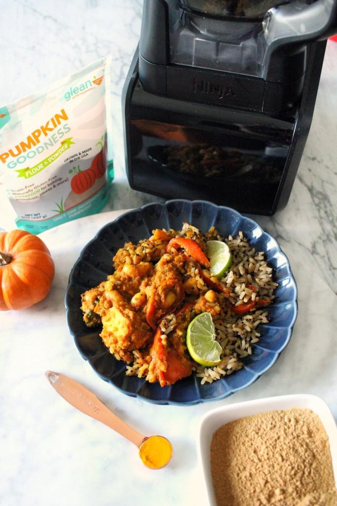 veggie pumpkin curry