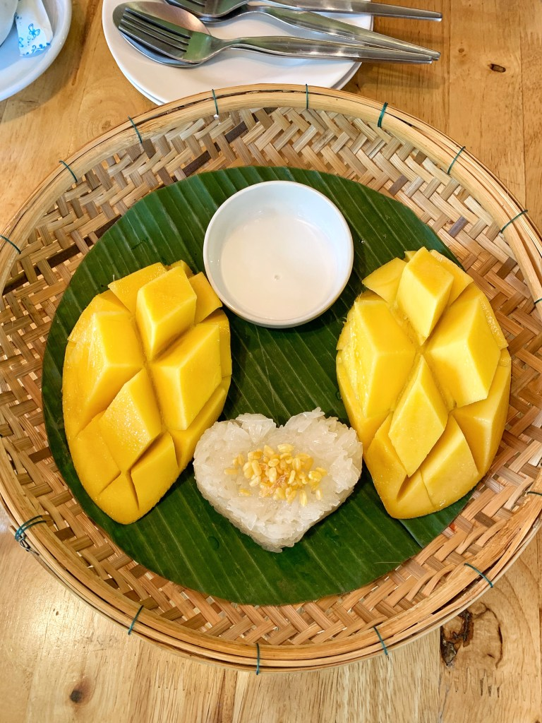 mango sticky rice in chiang mai thailand