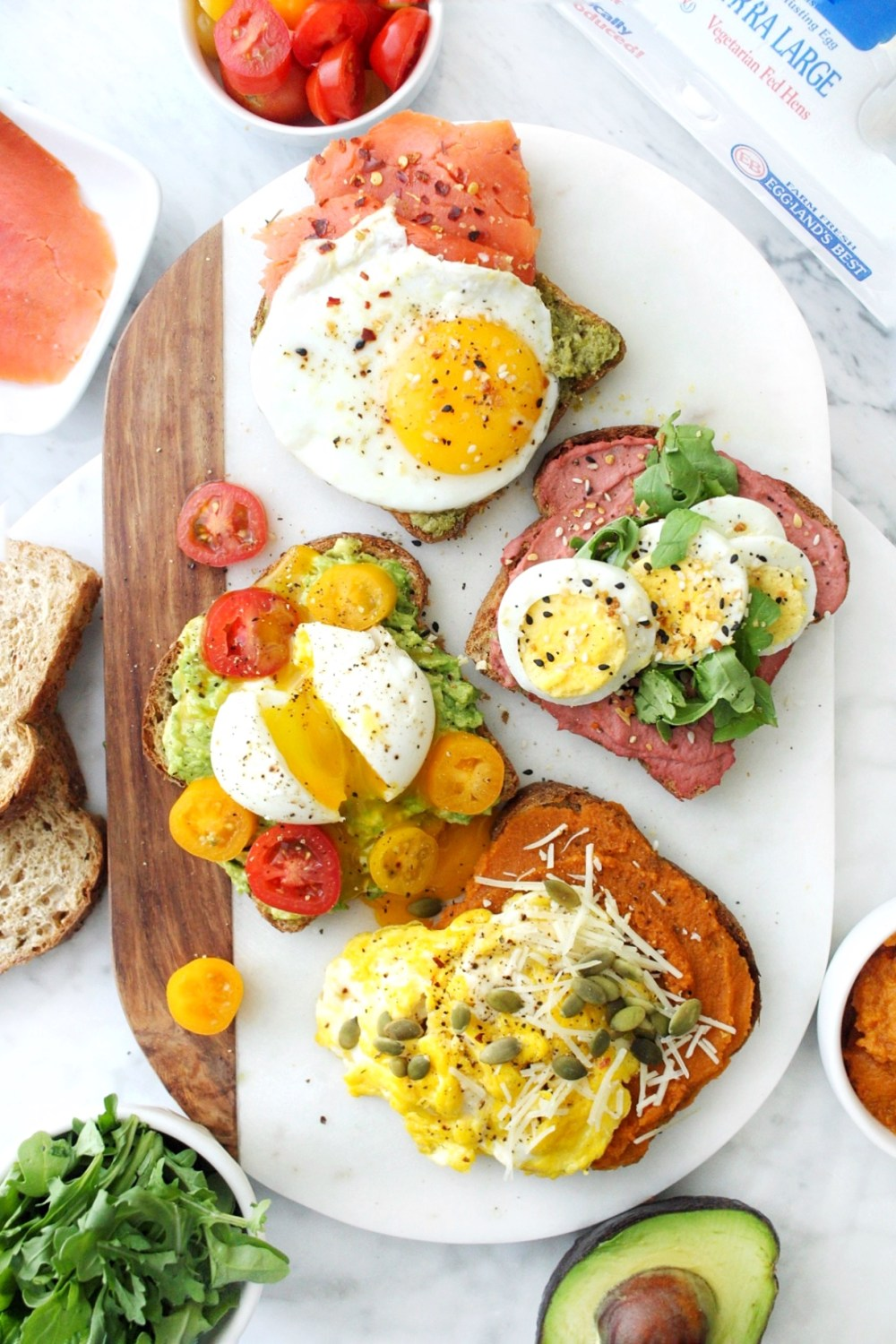 Avocado Toast with Eggs on Top