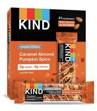 caramel almond pumpkin spice bar