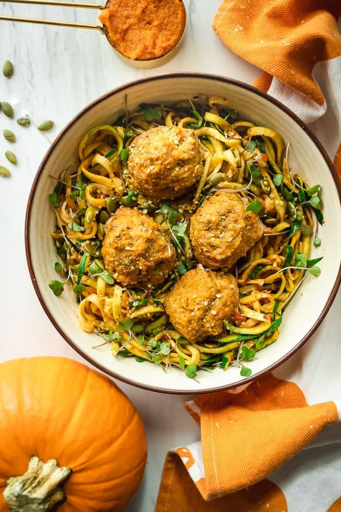 How to make pumpkin turkey meatballs