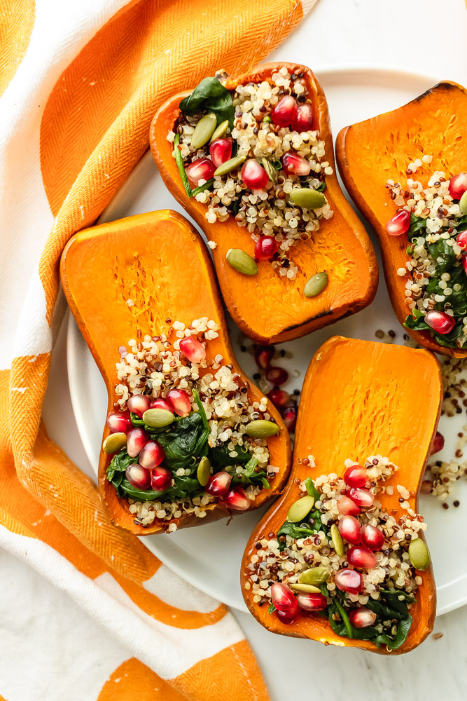 quinoa stuffed honeynut squash