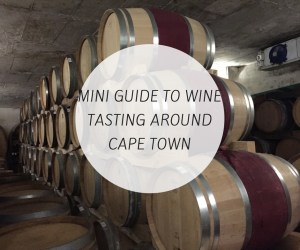 Mini guide to wine tasting around Cape Town