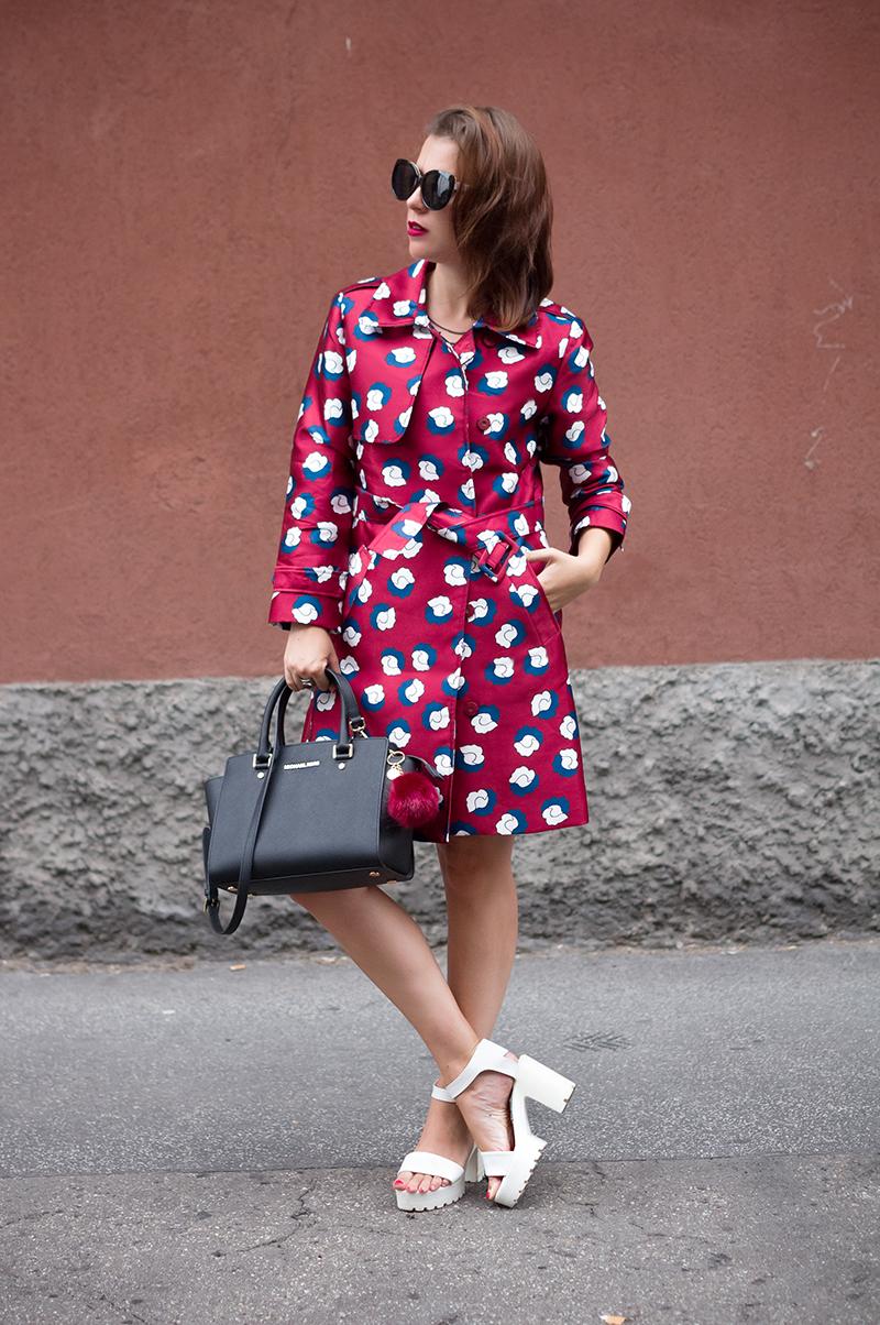Multicolor trench coat StyleWe