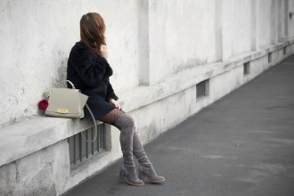 Over The Knee Boots Sol Sana Faux Fur