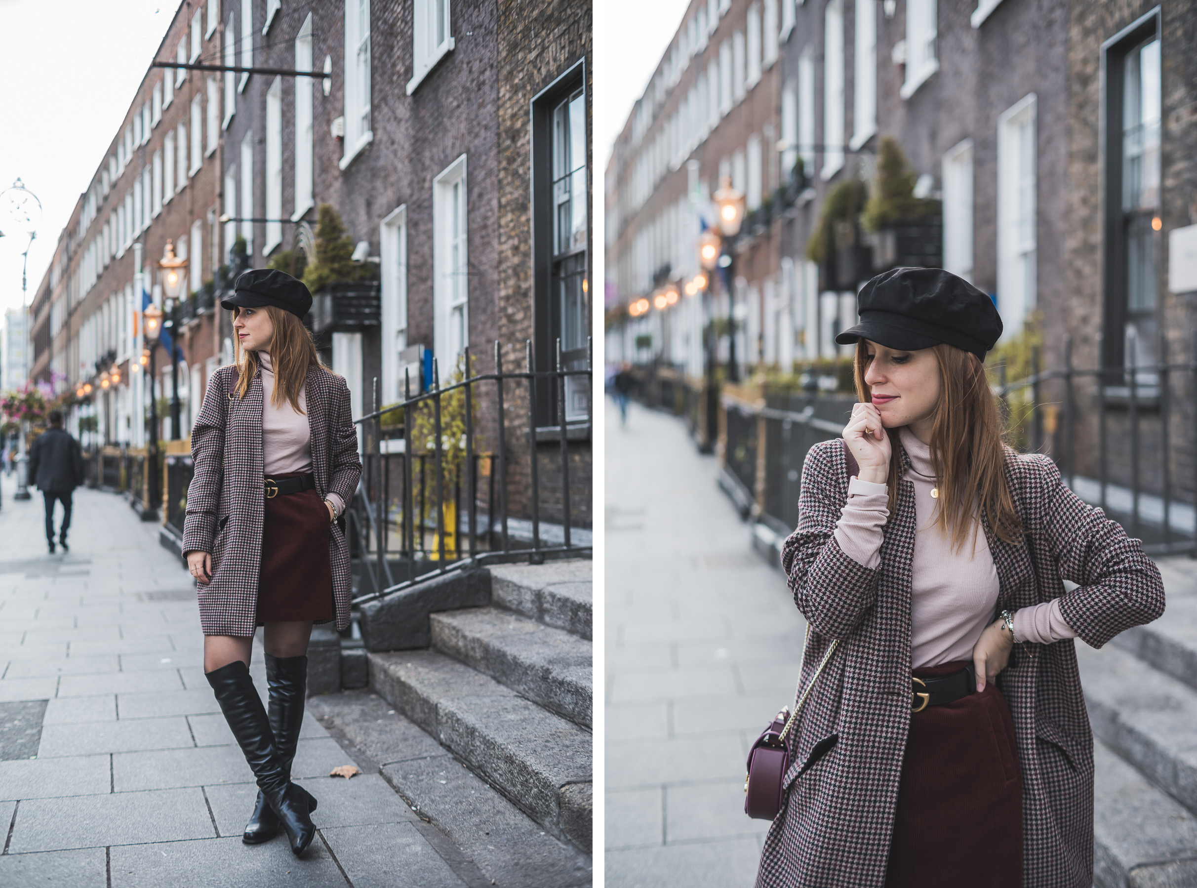How to wear a turtleneck (with a corduroy skirt) | Once Upon