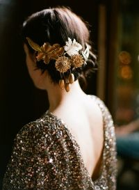 DIY Gold Wedding Hair Accessories - Once Wed