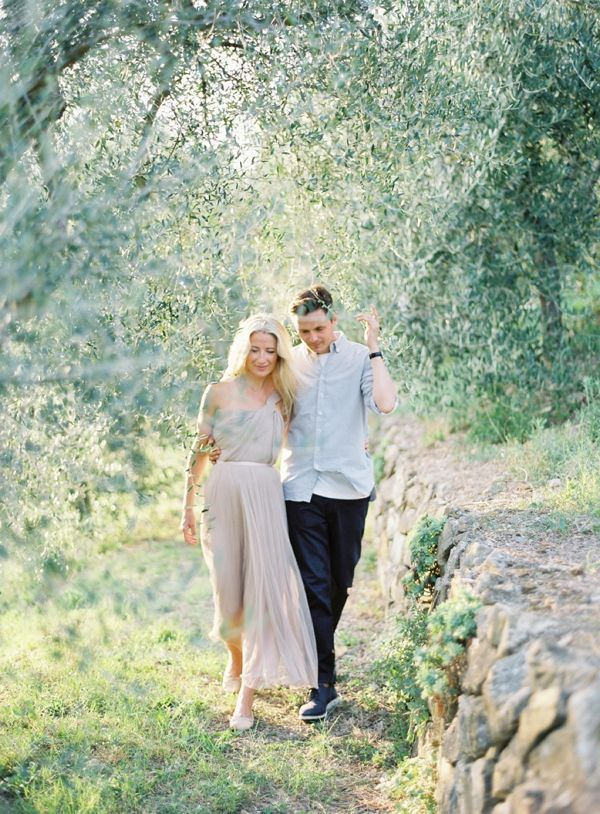Tuscan Engagement Session by Jose Villa  Once Wed