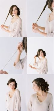 tutorial long hair wedding