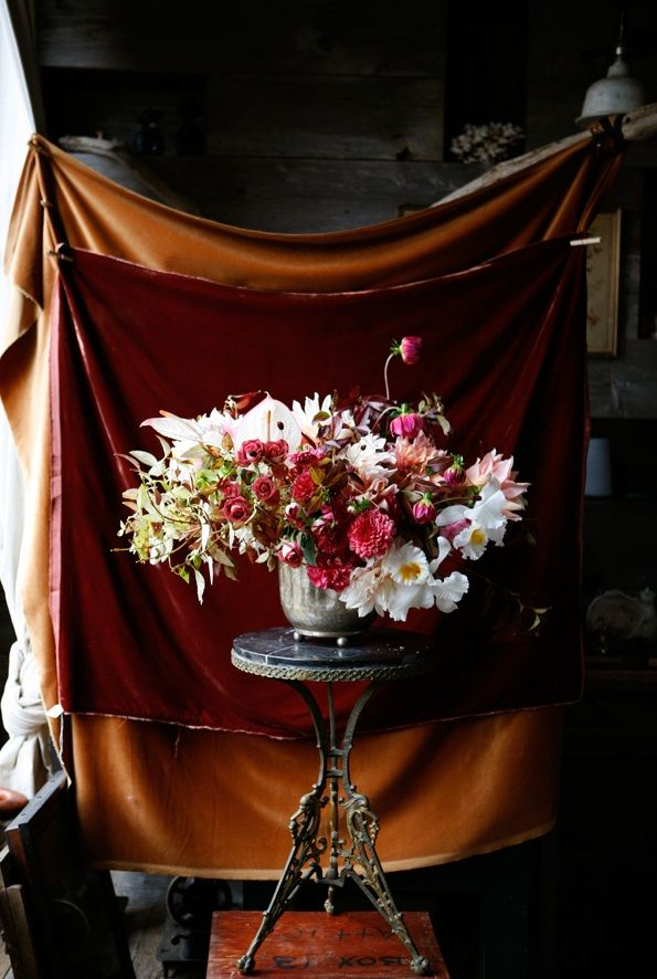Rustic Fall Reception Flowers Once Wed