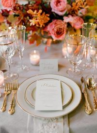 Elegant Fall Wedding Colors II - Once Wed