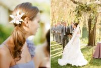 outdoor-garden-wedding-ceremony-bridesmaid-hair-accessory ...