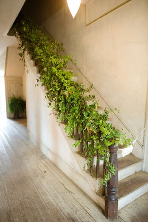 Greenery Bannister Garland Once Wed