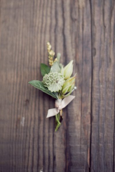 simplegardenboutonniere  Once Wed