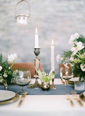 Winter Wedding Tablescape  Once Wed