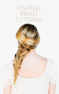 Fishtail Braid Hair Tutorial - Once Wed