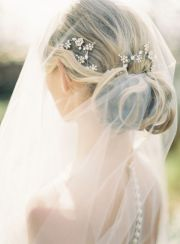 wedding hairstyles with drop veil