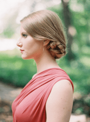 tucked braided bun hairstyles