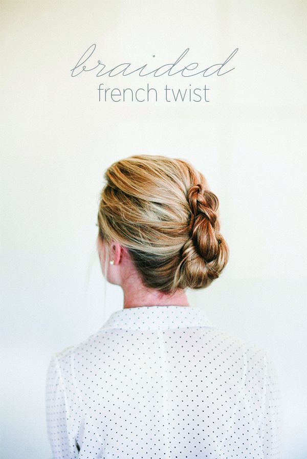 Braided French Twist How To  Once Wed