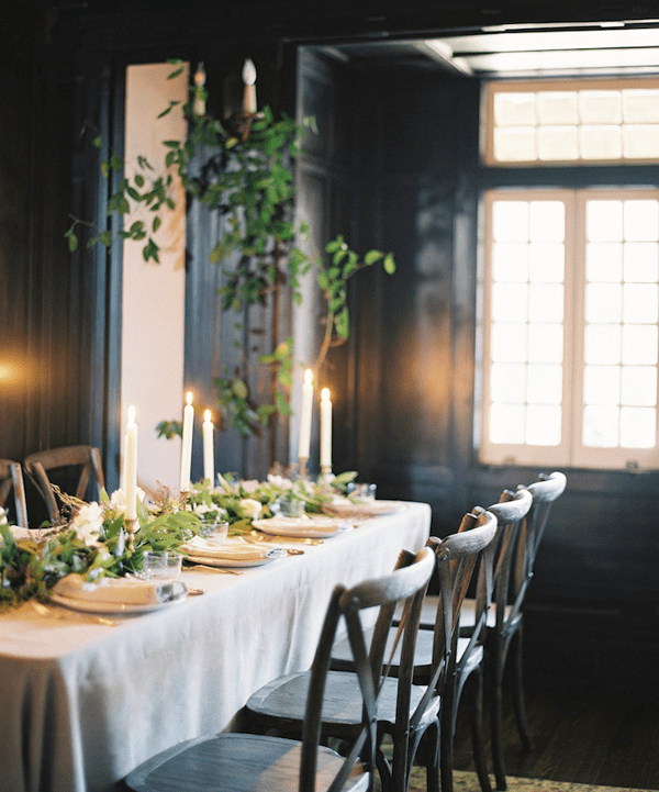Organic Indoor Winter Wedding Indoor Wedding Ideas