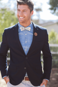 Wooden Bow Ties from Two Guys Bow Ties   OnceWed.com