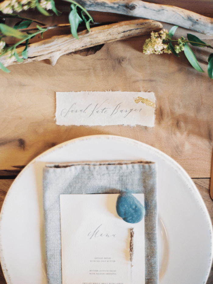 diy-gold-leafing-placecards-table