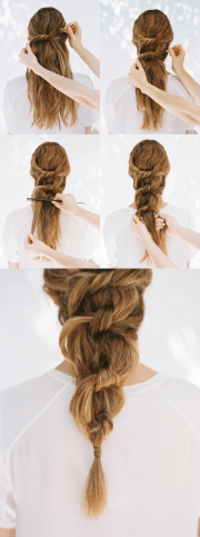diy knot ponytail weddings