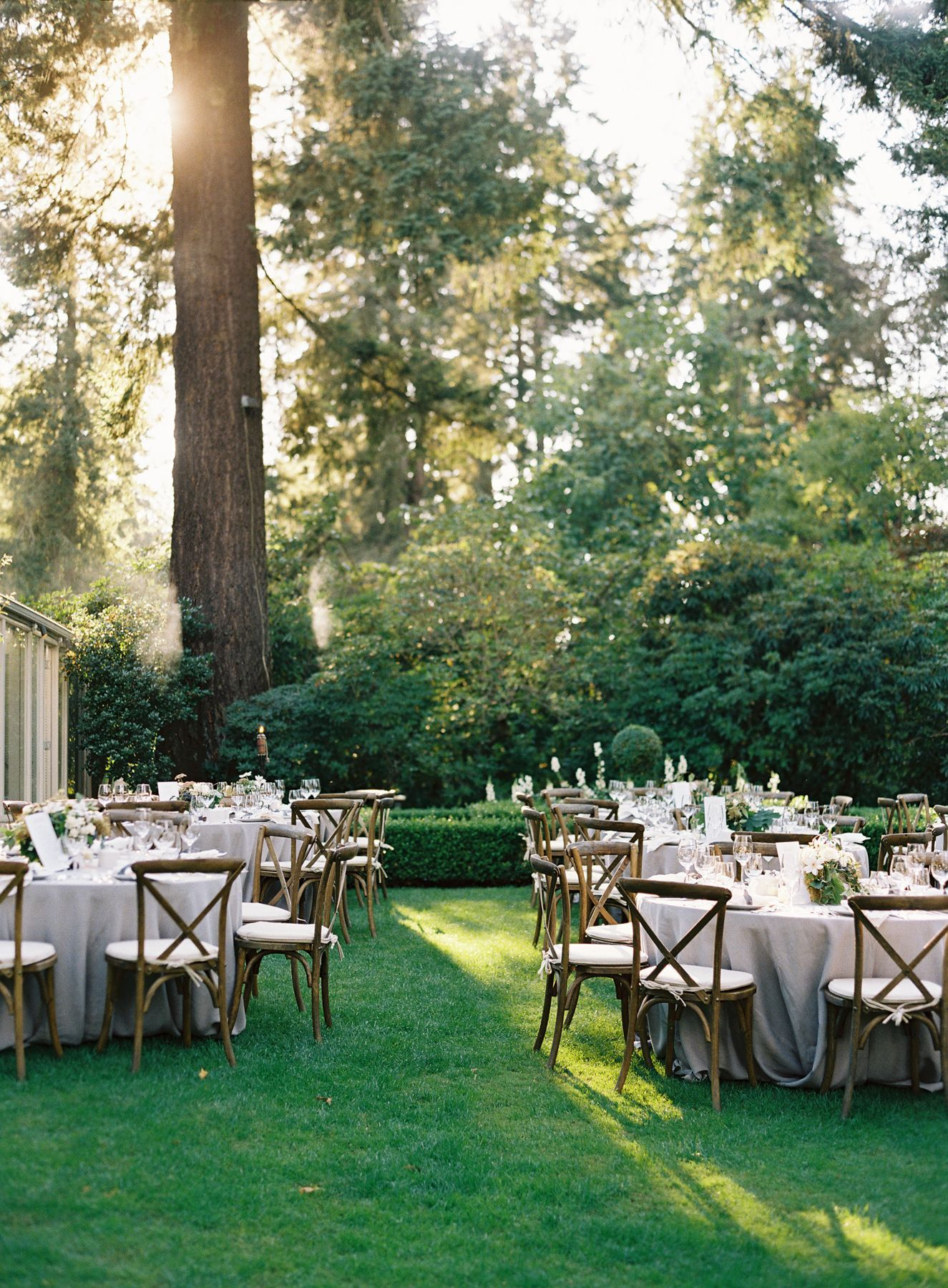 Elegant Garden Wedding Reception  Real Weddings  Oncewedcom