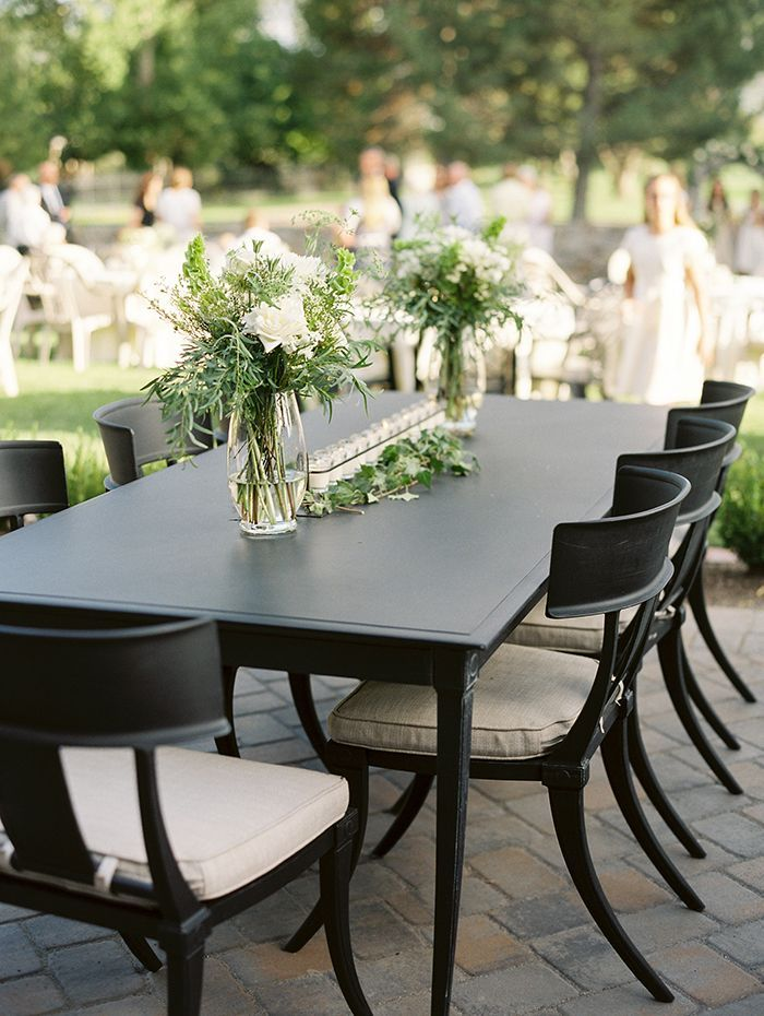 Simple and Elegant Outdoor Wedding Reception - Once Wed