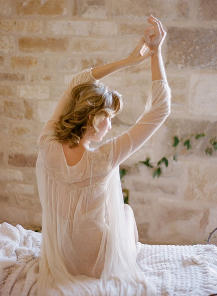 Delicate and Natural Boudoir Photography Inspiration  Once Wed