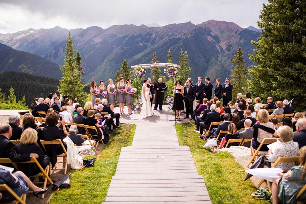 wedding ceremony on aspen mountain