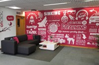 Onclick Bespoke Office Graphical and Typographical Wall Mural