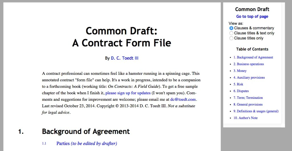 Common Draft screen shot 2014-10-23