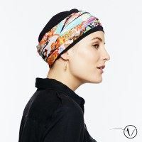 Chemo Head Scarf Mexico in Black for women | Oncovia