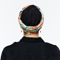 Chemo Head Scarf Mexico in Black for women