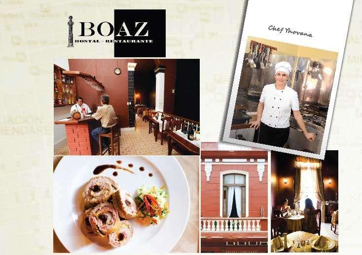 Boaz Restaurante Una chef es novedad en La Habana, y las amigas estaban ansiosas por probar la magia de la  Chef Yhovana. Degustaron varios de sus platos especiales con salsa Boaz. Deliciosos pero, como  cualquier chef listo, Yhovana rehusó revelar los ingredientes secretos.
