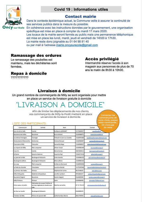 Distribution du premier numéro d'Oncy Solidaire