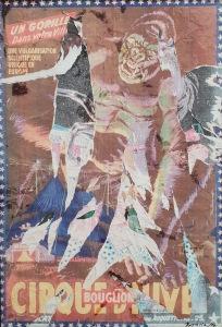Mimmo Rotella - Decollage unico su tela - cm. 70 X 100 - anni 2000'