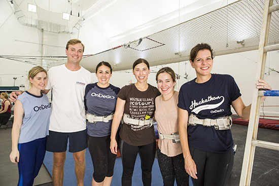 OnDeck team feeling happy after a day of flying. Photo by Kate Glicksberg.