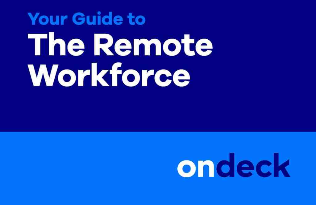 Survey Telecommuting Makes Sense For >> Your Complete Guide To The Remote Workforce Ondeck