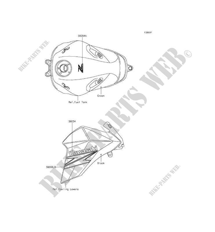 ZR800CFF Z800 2015 800 MOTOS Kawasaki motorfietsen