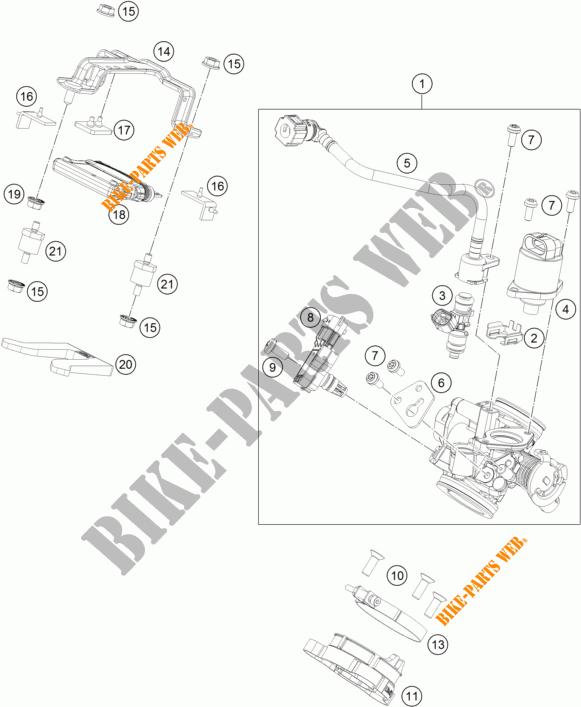 125 DUKE WHITE DUKE 2017 125 KTM Ktm motorfietsen # KTM