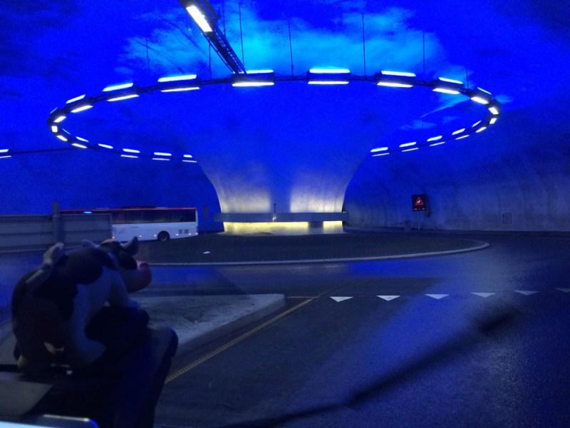 Rotonde in de tunnel