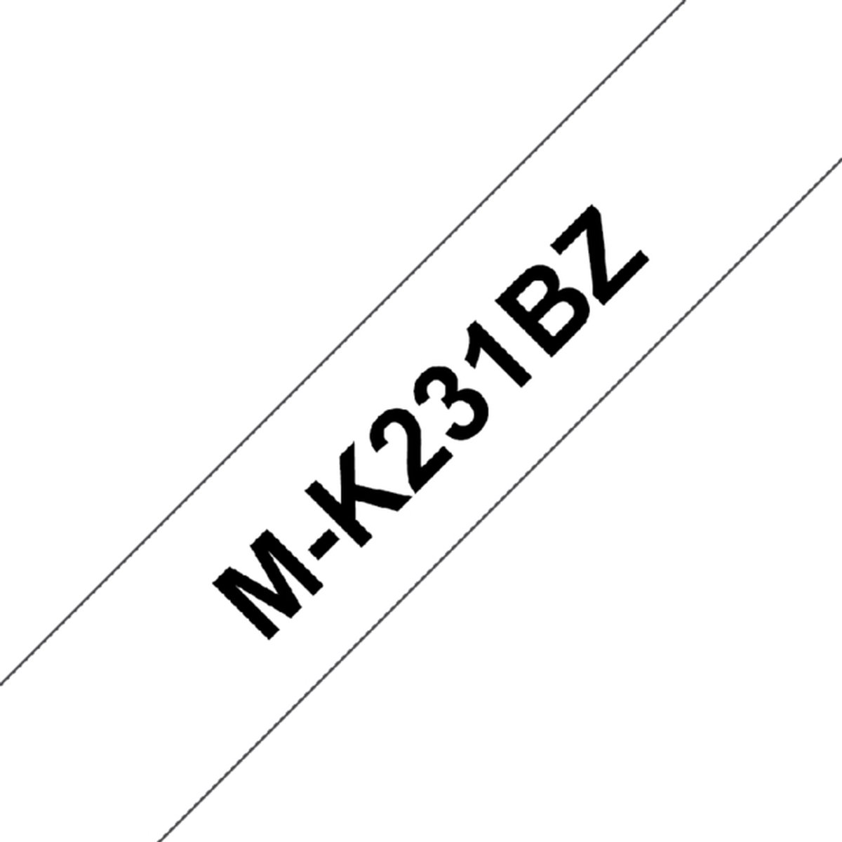Labeltape brother p-touch m-k231 12mm zwart op wit kopen