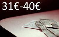 Entre 31€ e 40€