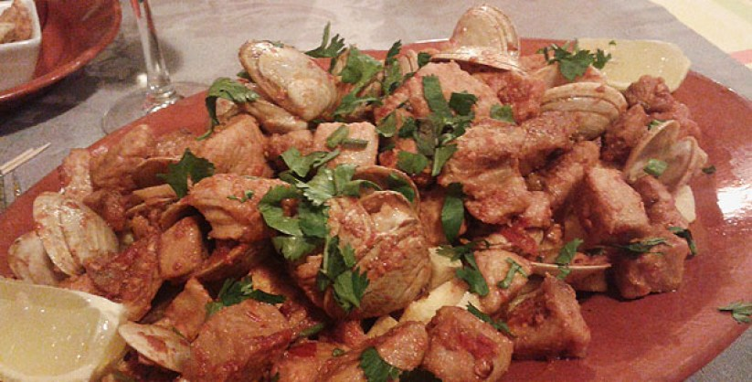 dom henrique restaurante alentejano carnide carne de porco alentejana